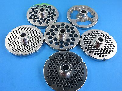PICK YOUR SIZE #32 S/Steel Meat Grinder Plate w/ HUB Butcher Boy Choprite Weston