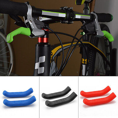 Coloured Silicone Bike Lever Sleeve Brake Grip Mountain Bike Control 1Pair HOT