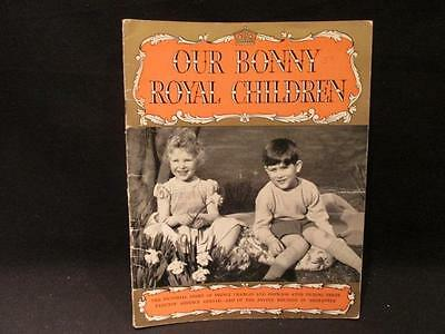Our Bonny Royal Children Pitkin Pictorial Prince Charles & Princess Anne 1954