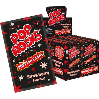 Pop Rocks Erdbeere 50 Stk. im Display knisternde Zuckerware (1er Pack)