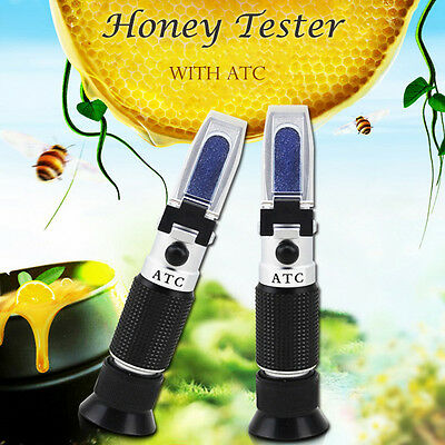 Accurate Honey Refractometer With ATC Beekeeping Sugar Tester 58-92%Brix Tools