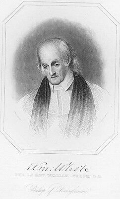 WILLIAM MUHLENBERG PORTRAIT FATHER OF EPISCOPAL CHURCH MOVEMENT 1877 ENGRAVING