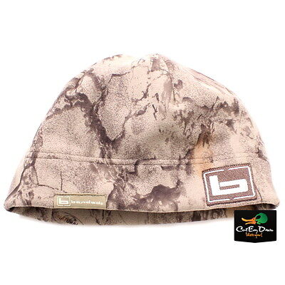 34e5f178728 NEW BANDED GEAR UFS FLEECE BEANIE SKULL CAP HAT b LOGO NATURAL GEAR CAMO
