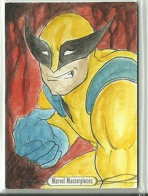 2016 Upper Deck Marvel Masterpieces Sketch Wolverine X-Men by Elfie Lebouleux