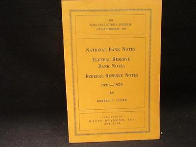 Coin Collector Journal Jan-Feb 1953 National Bank Notes Federal Reserve 1928-50