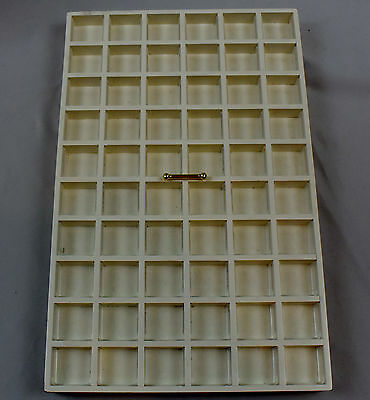 """2 Pandora Wooden Jewelry Retail Store Counter Tray 60 Spaces. 15.75"""" x 10"""""""