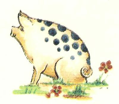"6 Spotted Pig 1-1/4"" Waterslide Ceramic Decals Bx"