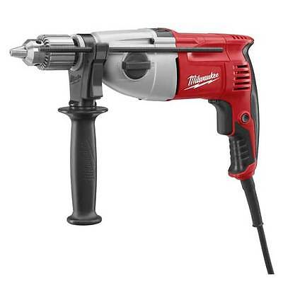 "New Milwaukee 5378-21 Electric 1/2"" 7.5 Amp Hammer Drill V.s. With Handle & Case"
