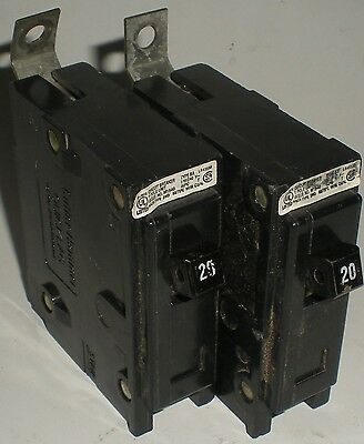 Electrical Circuit Breaker Cutler Hammer Quicklag Single Pole 20A Lot Of 2 Units