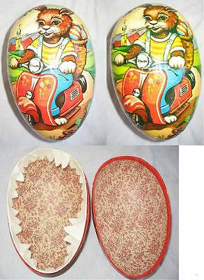 Old Western Germany Colorful Easter Egg Candy Container