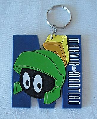 Warner Bros MARVIN THE MARTIAN Silicone Rubber Keychain Keyring 1995 Applause