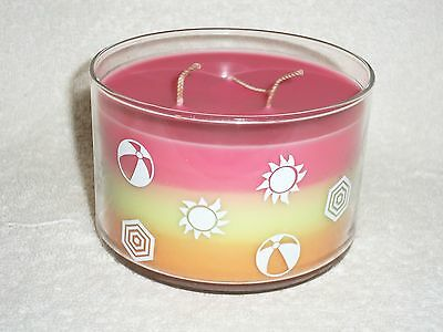 Partylite Beach Fun 3-wick Bowl Jar Candle -- RETIRED