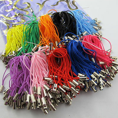 100pcs Charm Mobile Phone Dangle Strap String Thread Cord