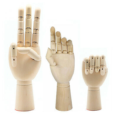 Left Right Hand Body Artist Model Jointed Articulated Wood Sculpture Mannequin