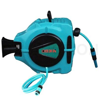 Wall Mount Auto Retractable Rewind Garden Workshop Water Hose Reel 20M