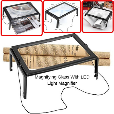Magnifying Glass With LED Light Magnifier For Reading Aid Eyes Large Hand Free