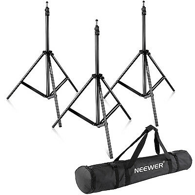 """Neewer 3 Pieces 75""""/190cm Aluminum Alloy Tripod Light Stands with Carry Bag"""