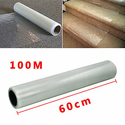 60Cm X 100M Roll Self Adhesive Carpet Protector Floor Protection Film Dust Cover