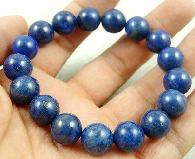 Natural 16mm Lapis Lazuli beads Handmade Gemstone Jewellery Stretch Bracelet Z1