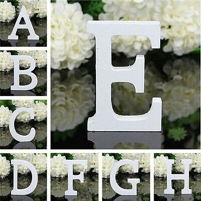 Vintage Large Wooden Block Freestanding Personalised A-Z Alphabet Letters Word