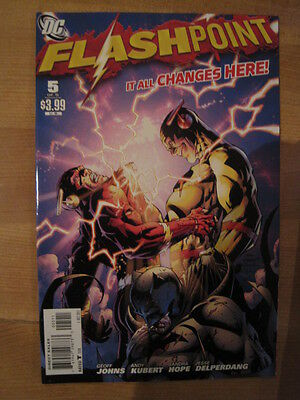 FLASHPOINT 5  (of 5).  REVERSE FLASH COVER by GEOFF JOHNS & ANDY KUBERT. DC 2011