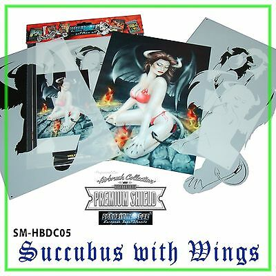 "MULTILAYER SUPERSTENCIL ""SUCCUBUS W/ WINGS"" AIRBRUSH SCHABLONE SM-HBDC05, ca A4"
