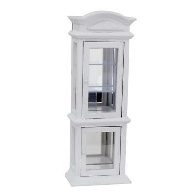 1:12 Dollhouse Miniature Vintage Wooden Cabinet Transparent Display Window
