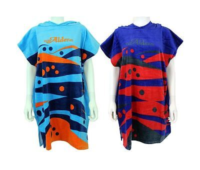 Alder Childs Hooded Beach Changing Robe Beach Poncho Towel Swimming Surf