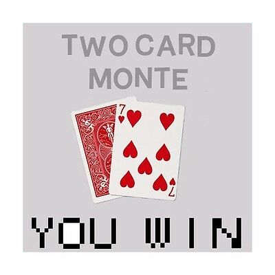 Two Card Monte - Bonneteau a 2 cartes en Bicycle Tour de Magie