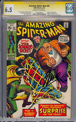 Amazing Spider-Man #85 Cgc 6.5 Oww Ss Stan Lee Signed Sig Series  #1197729019