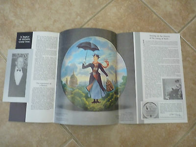 Mary Poppins 25 Years Walt Disney Collectible Plate Paper Flyer Knowles