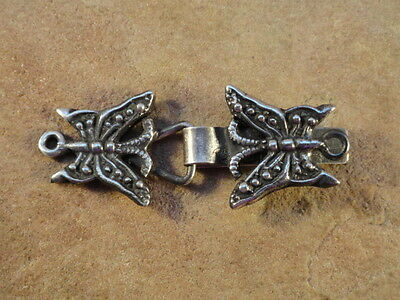 Mexican Mexico Sterling Silver Butterfly Clasp