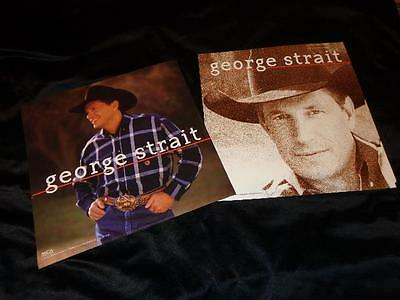 George Strait *EIGHT 12x12 Cardboard Promo Poster Flats From His 2000 Release!
