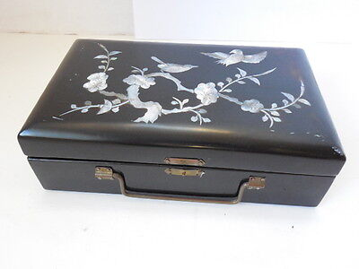 Fine Vintage Korean Jewerly Box Wth Mother-Of-Pearl Inlay