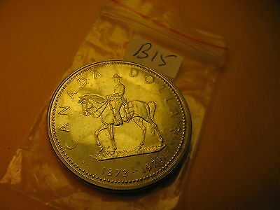 Canada 1973 Mint Grade Silver Dollar Coin 100 Years Of Rcmp ID#B15.