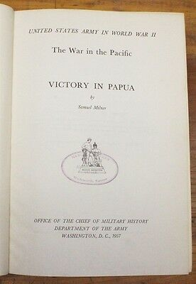 Military Book:  Victory in Papua, War in the Pacific - WWII