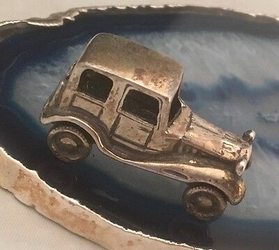 STUNNING Antique Sterling Silver Miniature AUTOMOBILE CAR Dollhouse ITALY - L078