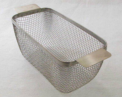 CP21 ULTRASONIC CLEANING BASKET STAINLESS #4 WIRE MESH 11 x 5-3/8 x 5