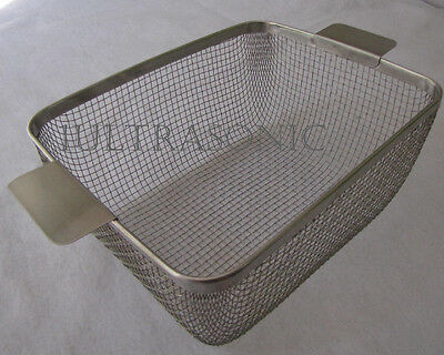 ULTRASONIC CLEANING BASKET for Branson CPX5800H 11 x 8-3/4 x 4.5 #304 CP28M