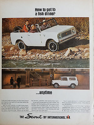 1965  White International Harvester Co Scout Truck Original Ad