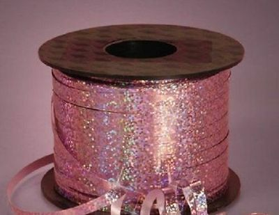 """3/16"""" Holographic PASTEL PINK Curling Ribbon 250 YDS 750 FT Spool Balloons Party"""