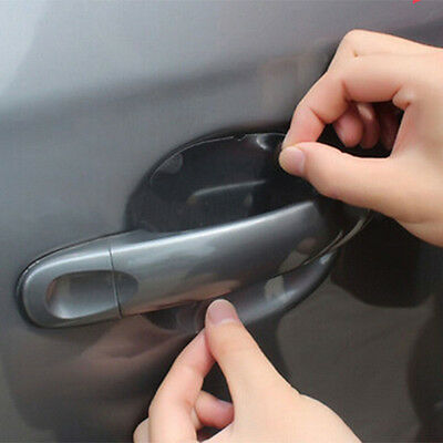 8pcs Universal Invisible Car Door Handle Scratches Protective Protector Films AU
