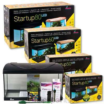 Diversa Aquarium StartUp Set LED Serie, komplett Aquariumset Glasbecken Nano