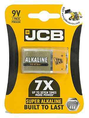 Single Pack of Premium JCB 9v PP3 Alkaline Batteries for Low Drain Appliances