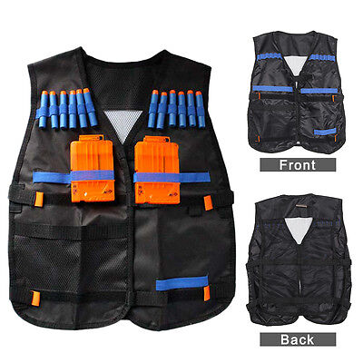 Top Tactical Vest For 12 Darts and 4 Ammo Clips In Nerf Elite N Strike Games UK