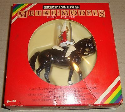 Britains 7230 Lifeguard Mounted Metal-Models Hand Painted (Soldatini)
