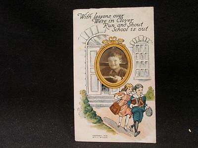 With lessons over We're in Clover Run & Shout School is Out Sample Card 1916