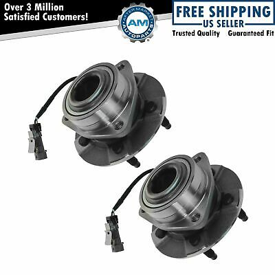 Front Wheel Hub & Bearing Assembly NEW Pair for Equinox Torrent Vue w/ ABS