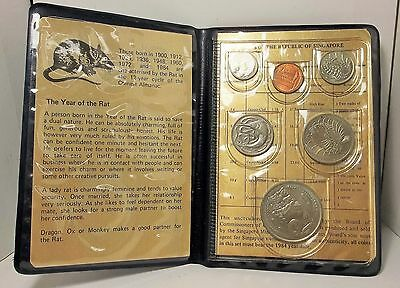 1984 Singapore Uncirculated 6 Coin Set Year Of The Rat One Cent...One Dollar!