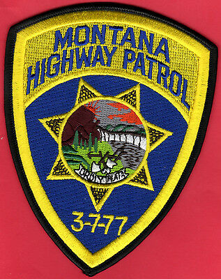"Montana Highway Patrol Shoulder Patch  3-7/8"" x 5"""